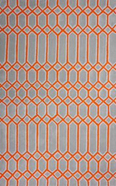 Epiphany Trellis EU06 Orange Rug