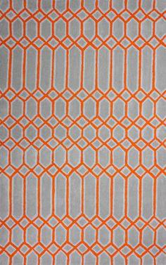 Epiphany Trellis EU06 Orange Rug