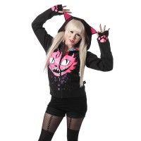 Vixxsin Black Gothic Grunge Punk Emo ISABELLA DUNGAREES Goth Jumpsuit Heartless