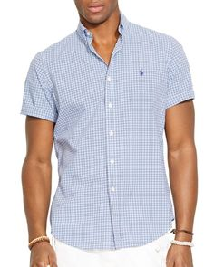 Polo Ralph Lauren Short Sleeved Checked Poplin Shirt - Classic Fit