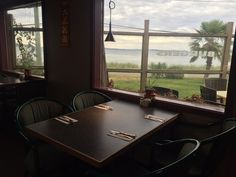 Vew while waiting for a seat, Henry's Kitchen, Qualicum Beach, BC