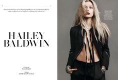 Hailey Baldwin stars in a fashion editorial for L'Officiel Netherlands' April/May issue.
