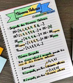 🇧🇷 🇧🇷 🇧🇷 Não tem essa de #rosa ou #azul, aqui é VERDE e AMARELO!!! 🇧🇷 🇧🇷 🇧🇷 . 📚📝✍️ Números Naturais📚📝✍️ Importante conhecer e entender… Tumblr School, Quantum Physics, School Notes, School Hacks, Math Lessons, Journal, Lettering, Tips, Instagram