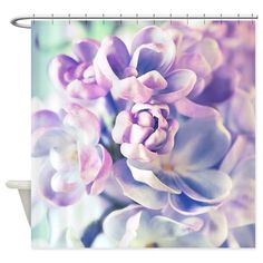 Lilac Flowers Shower Curtain on CafePress.com