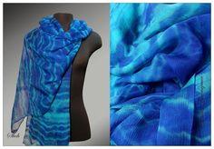 аукцион, акция, шарф, шарф на шелке, шифоновый шарф, шарф батик, батик, аукцион своими руками, шарф ручной работы