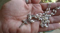 Check out this item in my Etsy shop https://www.etsy.com/listing/262689590/rescued-restored-recycled-rosary