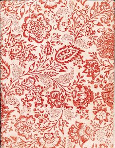 Vintage Printable Decorative Paper and Textile design Pattern Floral, Motif Floral, Flower Patterns, Pattern Design, Floral Prints, Red Pattern, Floral Design, Motifs Textiles, Textile Patterns
