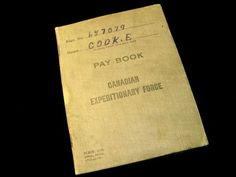 Post War Pay Book from a CEF Soldier