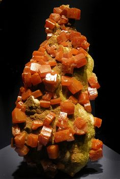 Wulfenite - brings youthfulness.  Good for magic, spirit contact, shamanic pursuits, and seeing and dealing with your dark side.  Good for accessing altered states of reality, your higher-self, twin souls/soul mates.