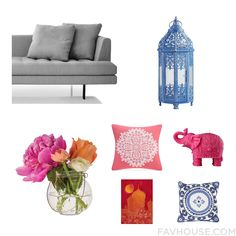 Interior Ideas Including Bensen Sofa Blue Pillar Candle Cultural Intrigue Home Decor And Oversized Throw Pillow From July 2015