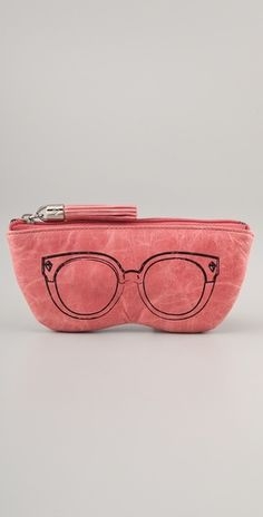 The cutest eyeglasses/sunglasses case ever. From Rebecca Minkoff. And I just need one ASAP for my eyeglasses!!!
