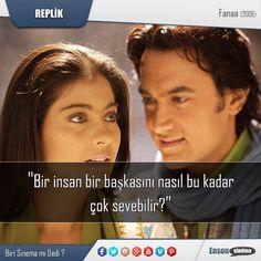 Başrollerinde Aamir Khan'ın ve Kajol'un rol aldığı bir Bollywood filmi olan 2006 yapımı (Fanaa) filminden. #replik #sinema #film