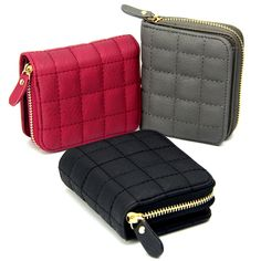 Women Short Wallets PU Leather Female Plaid Purses Nubuck Card Holder Wallet Fashion Woman Small Zipper…