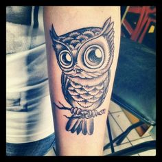 Owl is watching you my Dear. Owl tattoo.