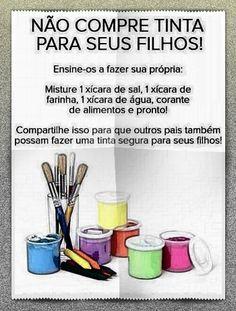 Tinta pra criança♥