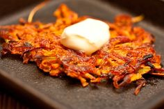 Leek and Sweet Potato Latkes (from Kitchenelly)