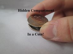 Picture of Hidden compartment in a coin (with stuff you already have!)