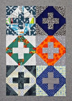 A Quilter's Table- inside addition blocks