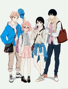 kyoukai no kanata, anime, and manga image Otaku Anime, Kyoani Anime, Anime Art, Fanart Manga, Manga Art, Anime Chibi, 5cm Per Second, Mirai Kuriyama, Beyond The Boundary
