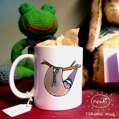 This sloth mug to drink your slothy tea. | 37 Sloth Items To Help You Live A Sloth Life