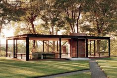 The Philip Johnson Glass House in New Canaan, Conn., was designed in 1949 by architect Philip Johnson as his own residence Architectural Digest, Amazing Architecture, Interior Architecture, Contemporary Architecture, Garden Architecture, Interior Modern, Pavilion Architecture, Interior Designing, Sustainable Architecture