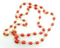 i_gioielli_di_alessia - Collana oro 18 kt. e corallo rosso. - 7/11