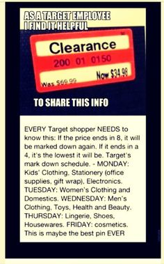 Need To Know Info About Target Sales! #Shopping #Trusper #Tip