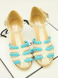 hollow header heel buckle sandals - http://zzkko.com/note/67057 $12.50