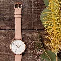 Arrow Leather dressed in rose gold case, cream dial, and pastel leather bands. The Vineyard Collection. Women's Watches, Arrow, Vineyard, Bands, Pastel, Rose Gold, Cream, Leather, Accessories