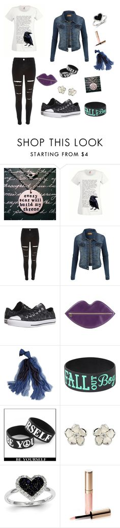 """""""Untitled #26"""" by pie1963 ❤ liked on Polyvore featuring River Island, LE3NO, Converse, Charlotte Olympia, White House Black Market, Shaun Leane, Kevin Jewelers and By Terry"""