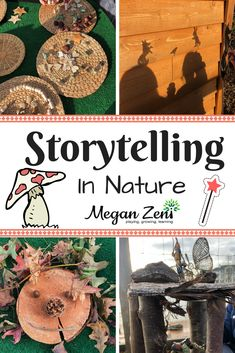 Storytelling in Nature is part of Nature kindergarten - Storytelling in nature invites children's imaginations to create stories that reflect their lived experiences, wonders and understandings of the world Forest School Activities, Outdoor Activities For Kids, Nature Activities, Outdoor Learning, Preschool Activities, Outdoor Play, Community Activities, Library Activities, Summer Activities