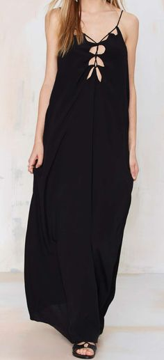 All Tied Down Maxi Dress #dress