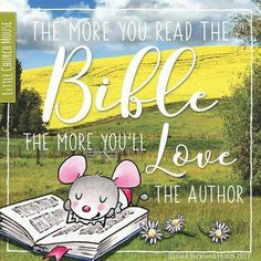 The more you read the Bible, the more you'll love the author! -little church mouse Catholic Quotes, Biblical Quotes, Spiritual Quotes, Faith Quotes, True Quotes, Prayer Box, Prayer Verses, Prayer Quotes, Bible Art