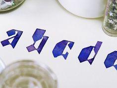 watercolor alphabet by Sasha Prood. Calligraphy Letters, Typography Letters, Typography Prints, Typography Design, Handwritten Typography, Typography Served, Alphabet Art, Letter Art, Alphabet Soup