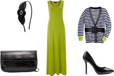 """Lime and Black Stripes"" by clgc96 on Polyvore"