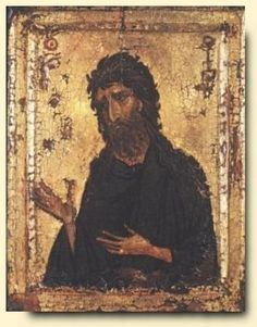 St John The Baptist - exhibited at the Temple Gallery, specialists in Russian icons Russian Icons, Byzantine Art, John The Baptist, Orthodox Icons, Art Techniques, Painting & Drawing, Saints, Orthodox Christianity