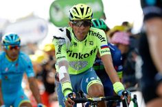 Contador signs with Trek-Segafredo on Rest Day.  (Photo: A bandaged and bruised Alberto Contador finishes stage 1 of the Tour de France after a crash earlier in the day.