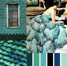 blue green and teal!  This is gorgeous and the color palette works great with the Florida art I'm collecting.