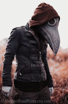 Alternative Plague Doctor Photography, Monster Brand Fine Art Print, Macabre Wall Art, Horror Masquerade Decor