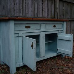 Entertainment Center - rustic, primitive, shabby chic style tv entertainment console center on Etsy, $949.00
