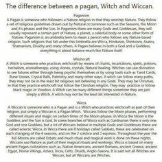 The differences between the pagans