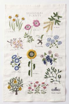DMC embroidery kit: Seasonal Plants by Yumiko Higuchi
