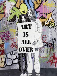 MR BRAINWASH ART IS ALL OVER, 2012 Peinture aerosol, acrylique, collage,