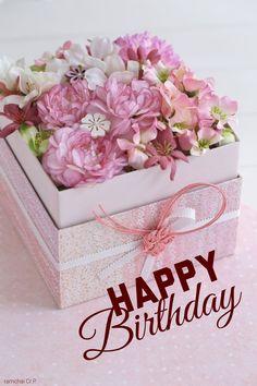 Happy Birthday Flowers Wishes, Happy Birthday Bouquet, Happy Birthday Art, Happy Birthday Celebration, Birthday Wishes And Images, Birthday Blessings, Happy Birthday Pictures, Birthday Wishes Cards, Happy Birthday Messages