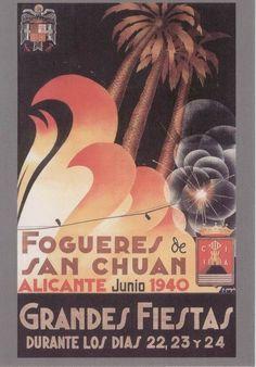 Cartel de Hogueras del año 1940 Alicante