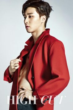 Park Seo Joon Dishes on His Kiss Scene with Um Jung Hwa in High Cut Magazine