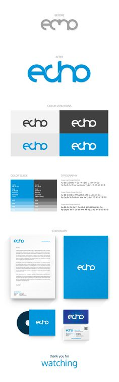 Echo Logo Tweak & Identity Design on Behance