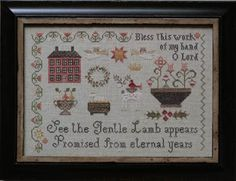 Promised Lamb - Cross Stitch Pattern by Plum Street Samplers