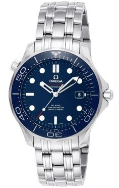 Men's Wrist Watches - Omega Mens 21230412003001 Seamaster Diver 300m CoAxial Automatic Swiss Automatic SilverTone Watch >>> Read more at the image link.