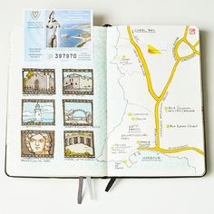Cyprus travelbook by Anna Rastorgueva, via Behance
